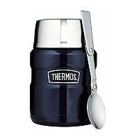 Термос пищевой 0.47л с ложкой Thermos Stainless King Food Flask Midnight Blue 173020