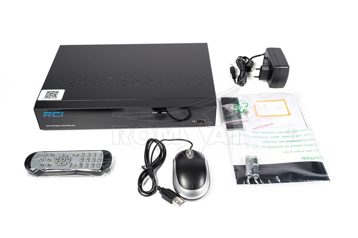 Відеореєстратор 4-х кан. гібридний AHD RCI RVH9904L 1080P