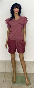 Классические короткие шорты из трикотажа трехнить с люрексом 44-52 р, женские шорты оптом от производителя