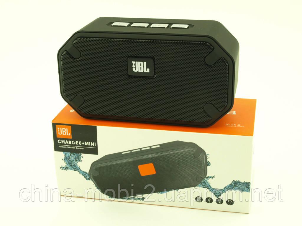 JBL Charge6+ mini  реплика Charge6 E6+ , колонка 3W с FM Bluetooth MP3, черная