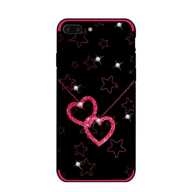 чехол накладка для Iphone 7 plus с сердцами и звездами