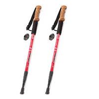 Палки треккинговые телескопические для скандинавской ходьбы Red, фото 1