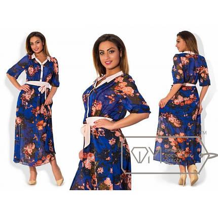 """Красивое женское платье в пол с напуском """"Шифон на подкладке"""" 48, 50 размеры баталы, фото 2"""
