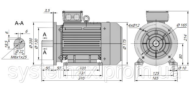 АИР80А4 / АИР 80 А4 / IM 2081 / IM2081 / комб / комбинированный / фланцевый / 1,1 кВт / 1500 об/мин