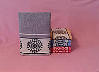 Махровое полотенце для лица серое не маркое мягкое (90х50 см) на подарок для него Серый