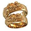 Золотое обручальное кольцо 800200_