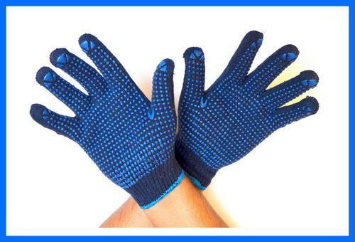 Перчатки черного цвета с ПВХ точкой - RT1148-2-NO, р.10