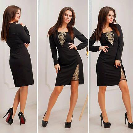 """Элегантное женское платье  """"Костюмная"""" 42, 44, 46, 48 размер норма, фото 2"""