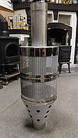 Сетка для камней с трубой 100 см для банной печи д. 120 мм (сталь 321, толщина 1мм)