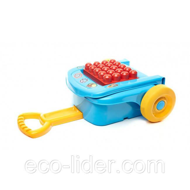 Переносной чемоданчик с конструктором (16 дет.) Mega Bloks 1+