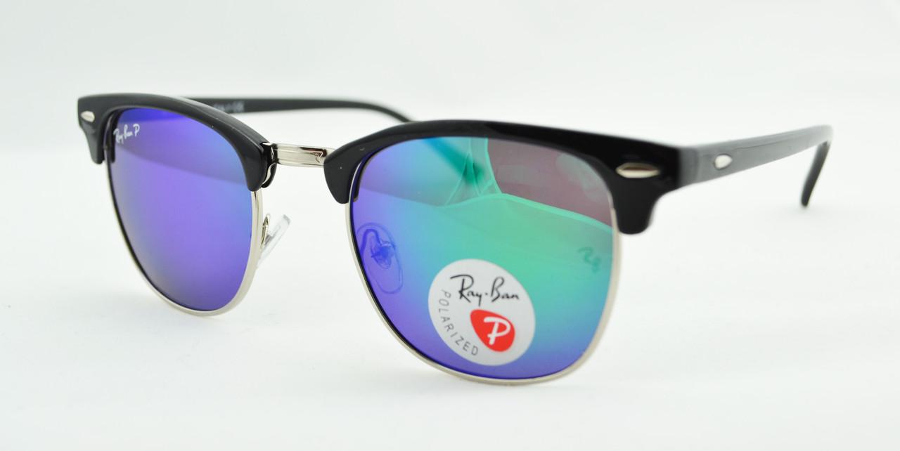 Солнцезащитные очки Ray Ban Clubmaster 3016 C6 поляризационные -  Оптово-розничный интернет-магазин