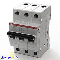 Выключатель автоматический ABB Basic M 3pol  C16A, предотвращающий скачки напряжения в сети, BMS413C16