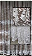 Гардина сетка с вышивкой Т254
