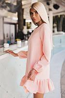 Обворожительное женское платье с оборкой по низу 42-58р