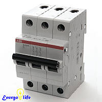 Выключатель автоматический ABB Basic M 3pol  C6A, предотвращающий скачки напряжения в сети, BMS413C06