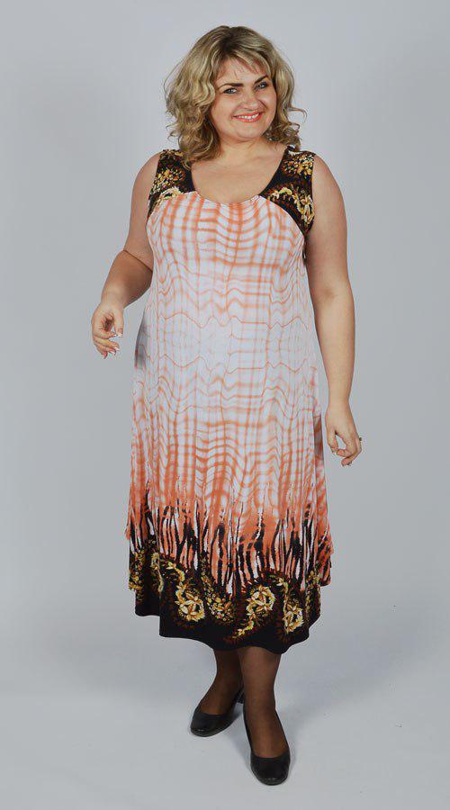 Платье летнее Марина р 58,60,62,64