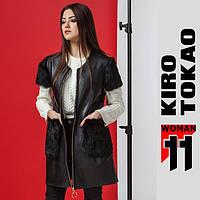 11 Киро Токао | Женская жилетка японская демисезон 4774 черный