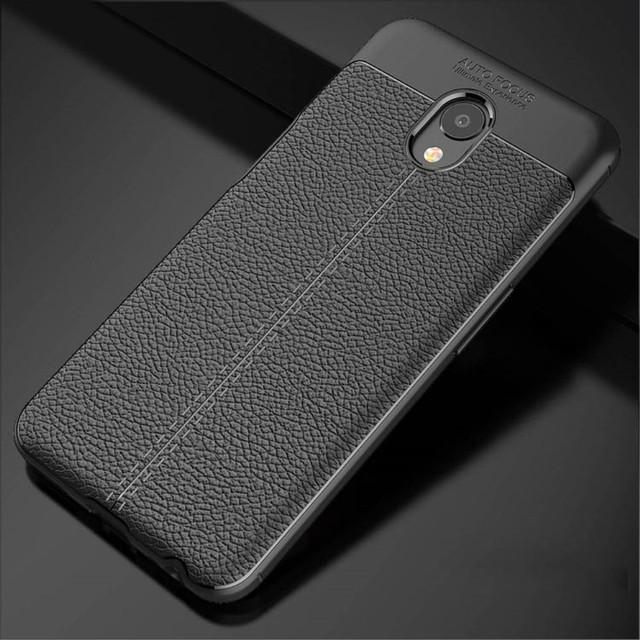 чохол накладка Meizu M6S чорна фактура шкіри