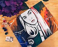Портрет флип флоп, портрет по фото, pop art, поп-арт,  портрет на заказ