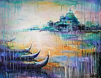 «Нежность утреннего солнца» картина акрил
