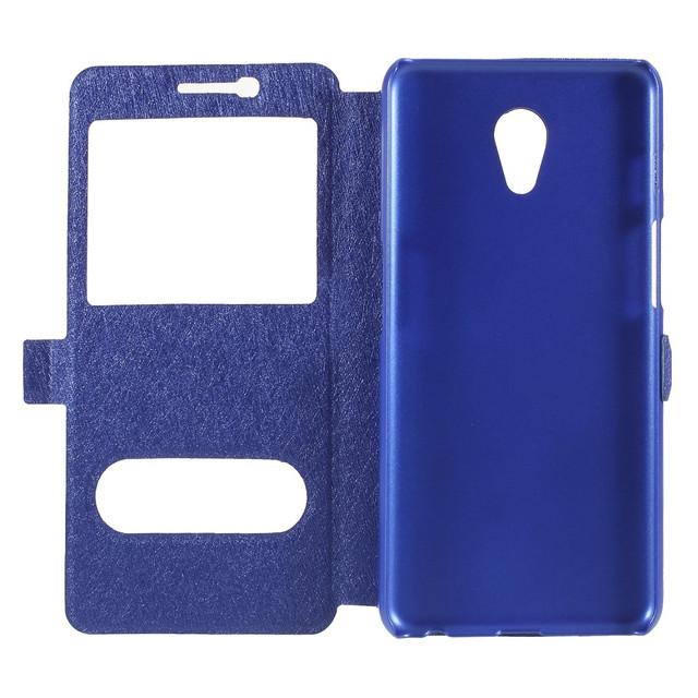 чохол книжка Meizu M6S з віконцем синій
