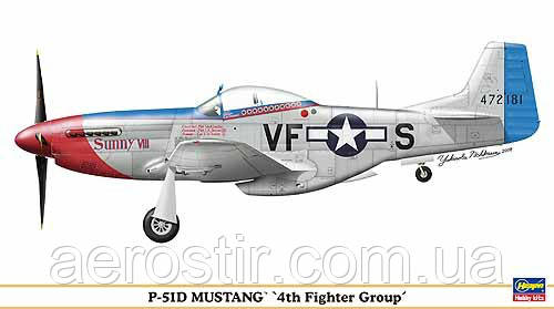 P-51D Mustang '4th Fighter Group'1/48 HASEGAWA 09886