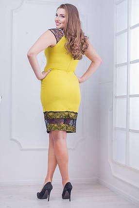 """Кружевное женское платье  """"Костюмная"""" 48  размер батал, фото 2"""