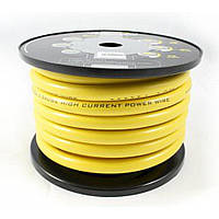 Кабель силовой Hollywood PRO PCY 8 (8GA, желтый) (метр)