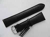 Кожаный ремешок для часов  Bennett & Murray 24мм черный DLS-2420L-61-1