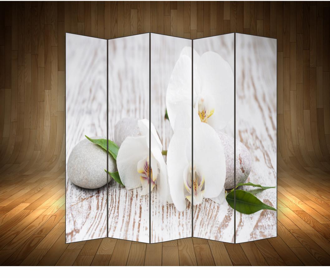 """Ширма декоративна"""" Орхідеї білі"""""""