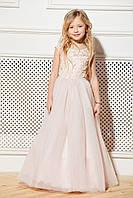 Платье детское нарядное на 6-9 пудровое, фото 1