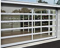 Промышленные панорамные секционные ворота ISD02 DoorHan