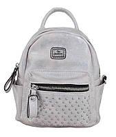 Молодежная cумка-рюкзак, серебро, 17*20*8см, фото 1
