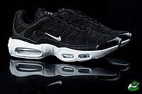 Кроссовки мужские Nike Air Max Tn+ Black (найк тн плюс, реплика) (реплика), фото 1