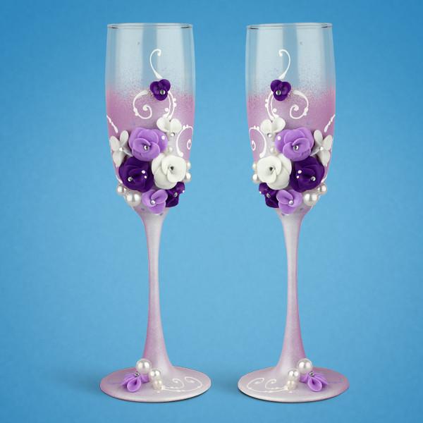 Свадебные бокалы SG для шампанского 2 шт. (TL-1403)