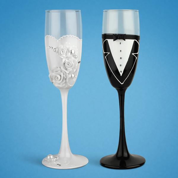 Свадебные бокалы SG для шампанского 2 шт. (TL-1405)