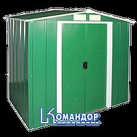 Сарай металлический Eco 262x182x191 зеленый с белым (DURAMAX TM)
