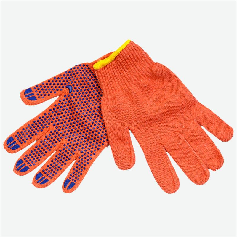 Перчатки оранжевого цвета с ПВХ точкой - RT2148-1-OR, р.10
