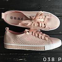 Женские мокасины кеды кроссовки сетка на шнуровке стильные розовые весна лето