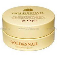 Гидрогелевые патчи для глаз с Золотом и Улиткой Petitfee Gold & Snail Hydrogel Eye Patch, 60шт