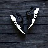Чоловічі кросівки Adidas EQT ADV Support Black/White. Живе фото. Топ якість! (Репліка ААА+), фото 7