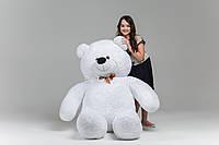 Белый большой плюшевый медведь 200см