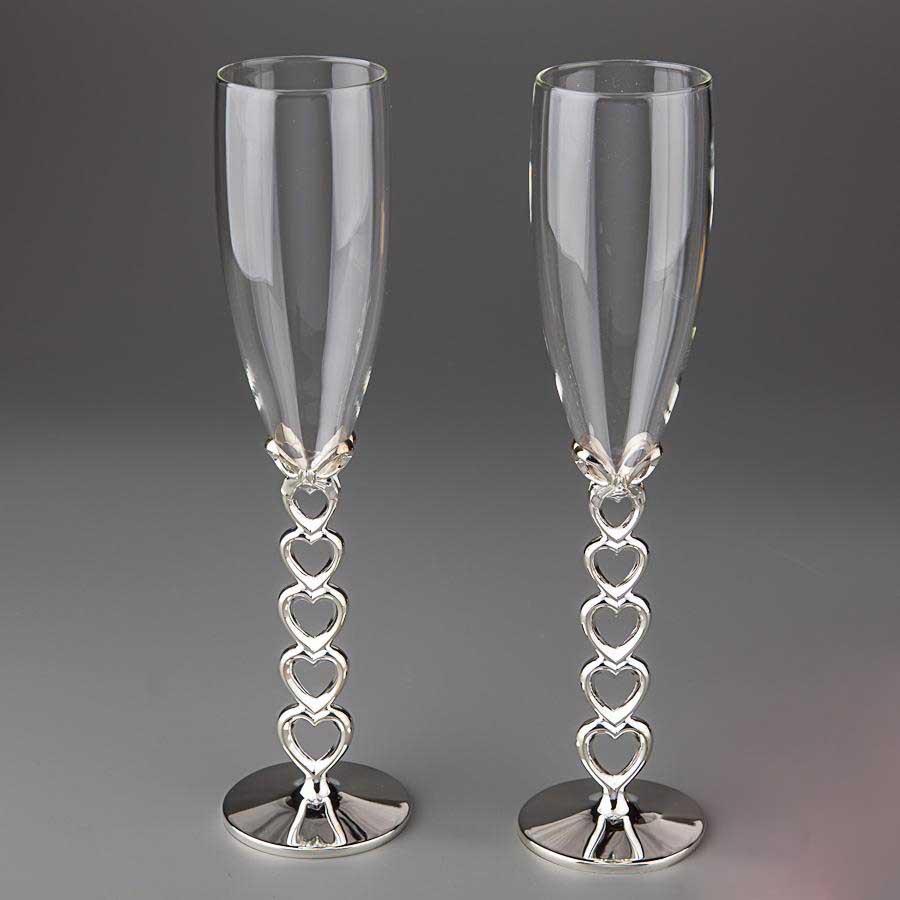 Весільні келихи SG для шампанського 2 шт. (Y-009G)