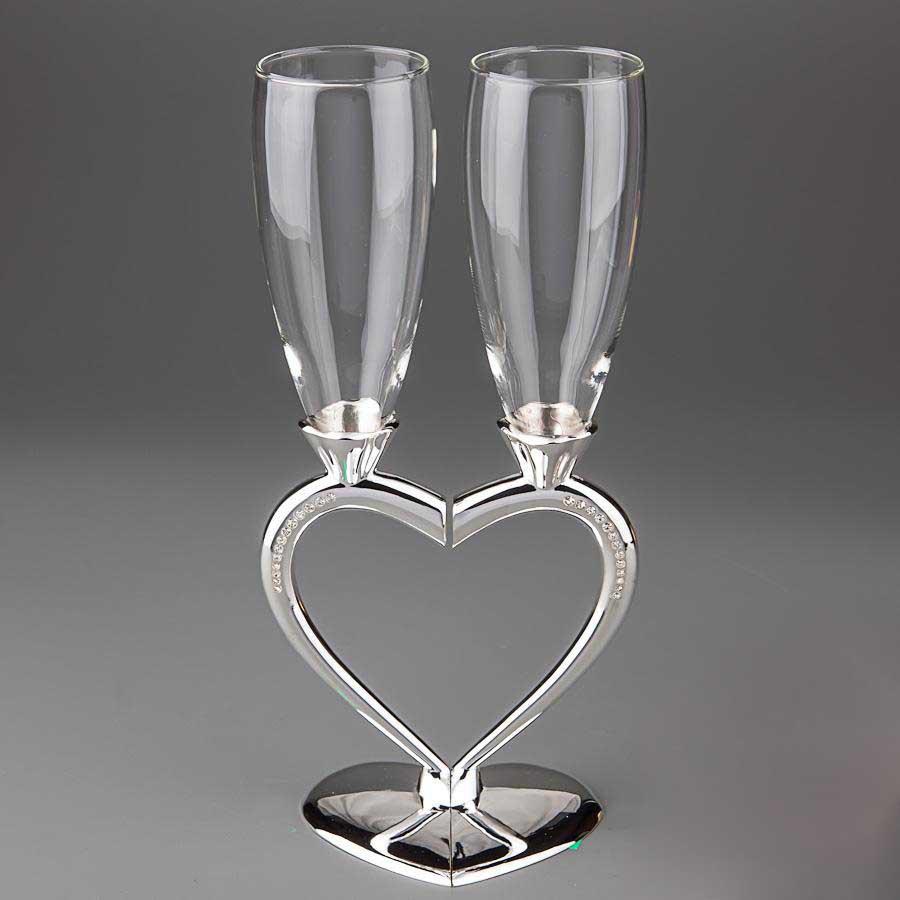 Свадебные бокалы SG для шампанского 2 шт. (Y-010G)