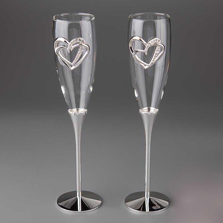 Свадебные бокалы SG для шампанского 2 шт. (Y-005G)