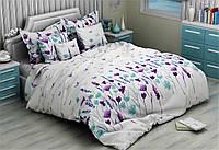 Семейный  комплект постельного белья из бязи Голд Лаванда