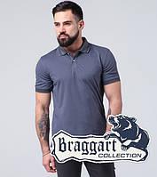 Braggart | Рубашка поло. Хлопок 6637-A серо-синий