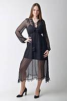 Черное платье в горошек Dior, фото 1