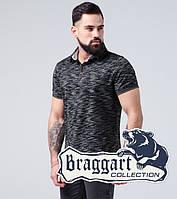 Braggart | Тенниска мужская. Хлопок 6658 черный