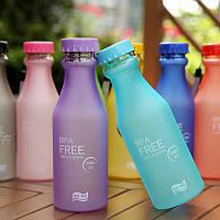 Фитнес бутылка BPA FREE матовая , 550 мл